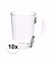 Theeglazen bekers basic 10 stuks 320 ml