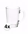 Theeglazen bekers basic 4 stuks 320 ml