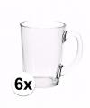 Theeglazen bekers basic 6 stuks 320 ml