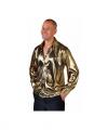 Toppers goud metallic overhemd heren