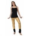 Toppers gouden legging puntige gaten