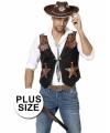 Toppers grote maat cowboy vest heren