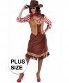 Toppers grote maten cowgirl jurk geruite blouse dames
