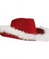 Toppers kerst hoed cowboy rood