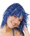 Toppers lurex pruik blauw