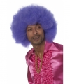 Toppers paarse afro pruik