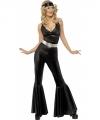 Toppers zwart disco kostuum dames