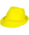 Trilby hoed neon geel