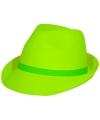 Trilby hoed neon groen