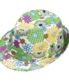 Trilby hoedje bloemen pailletten