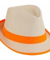 Trilby hoedje oranje