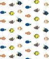 Tropisch deurgordijn vissen 200 bij 90