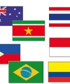 Tropisch vlaggen pakket