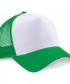 Truckers cap groen wit volwassenen