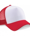 Truckers cap rood wit volwassenen