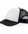 Truckers cap zwart wit