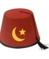 Turks fez hoedje van vilt