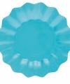 Turquoise diepe bordjes 21