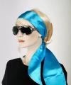Turquoise hoofd sjaal