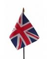 Union jack mini vlaggetje op stok 10 bij 15