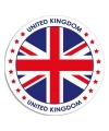 United kingdom sticker rond 14 8