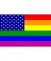 Usa regenboog vlag 90 bij 150