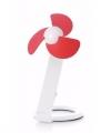 Usb bureau ventilator wit rood 22
