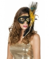 Venetiaans oogmasker zwart pauwenveren