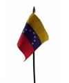 Venezuela mini vlaggetje op stok 10 bij 15