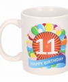 Verjaardag ballonnen mok beker 11 jaar