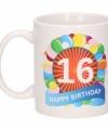 Verjaardag ballonnen mok beker 16 jaar