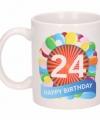 Verjaardag ballonnen mok beker 24 jaar