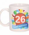 Verjaardag ballonnen mok beker 26 jaar