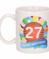 Verjaardag ballonnen mok beker 27 jaar