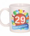 Verjaardag ballonnen mok beker 29 jaar