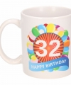 Verjaardag ballonnen mok beker 32 jaar