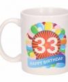 Verjaardag ballonnen mok beker 33 jaar
