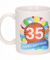 Verjaardag ballonnen mok beker 35 jaar