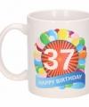 Verjaardag ballonnen mok beker 37 jaar