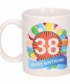 Verjaardag ballonnen mok beker 38 jaar