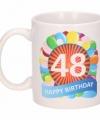 Verjaardag ballonnen mok beker 48 jaar