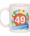 Verjaardag ballonnen mok beker 49 jaar