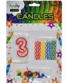 Verjaardag kaarsen set nummer 3