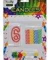 Verjaardag kaarsen set nummer 6