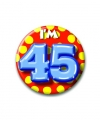 Verjaardags button i am 45