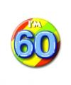 Verjaardags button i am 60