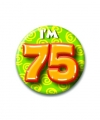 Verjaardags button i am 75