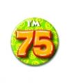 Verjaardags button i am 75