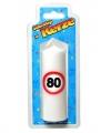 Verjaardagskaars 80 jaar verkeersbord