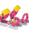 Verstelbare roze geel kinder schaatsen